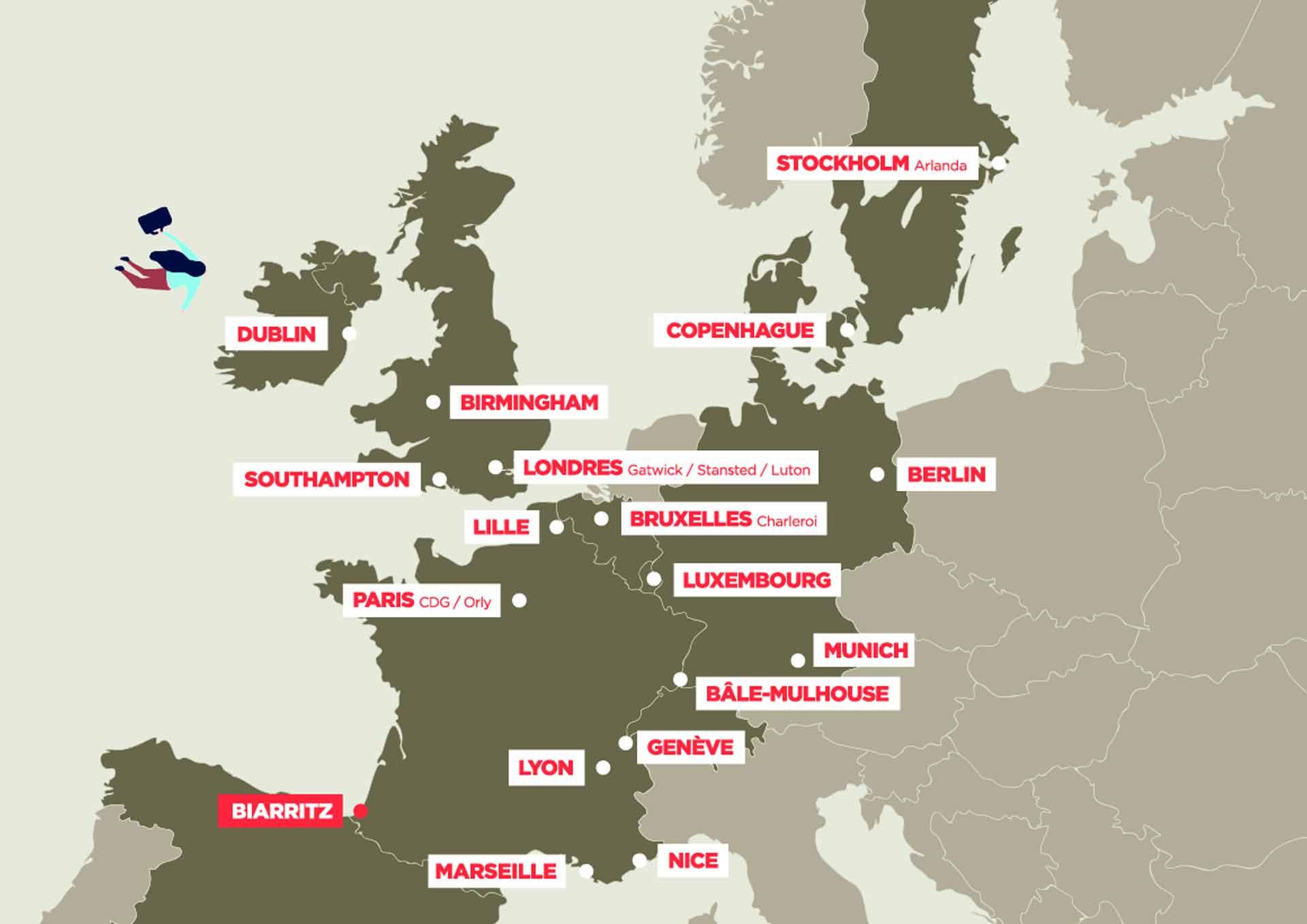 Aéroport Biarritz Pays Basque : vols au départ et arrivée de